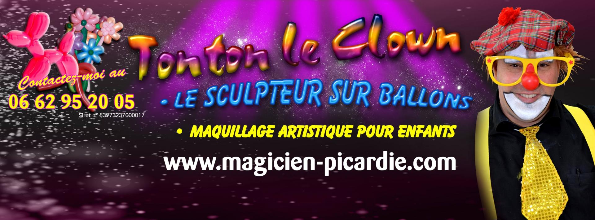 Tonton le clown sculpteur ballons en clown Hauts-de-France