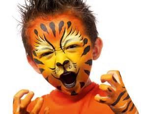 Maquillage artistique le lion
